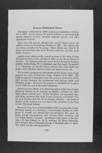 Kansas Historical Notes - Kansas Historical Society