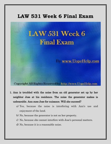 business law 531 week 4 Law 531 week 4 quiz $699 law 531 business law week 3 quiz answers $999 you recently viewed law 531 week 3 quiz $1499 add to cart.