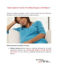 Fight Against The Tension of Unwilling Pregnancy with Mifeprex