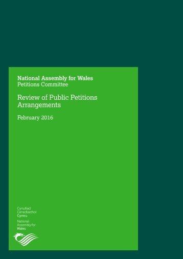 Review of Public Petitions Arrangements