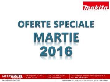 Oferta speciala scule electrice Makita -  MARTIE 2016