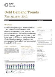 Gold Demand Trends - Exchange Traded Gold