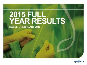 2015 FULL YEAR RESULTS