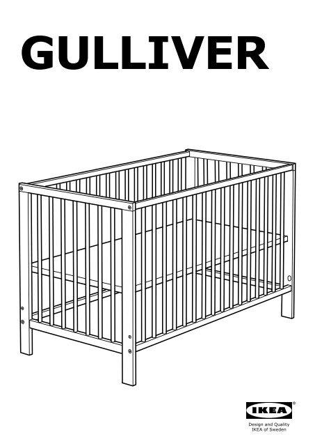 Ikea Gulliver Lit B Eacute B Eacute 50248522 Plan S De Montage