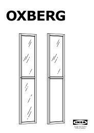 Ikea OXBERG Porte VitréE - 90275617 - Plan(s) de montage