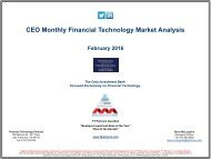 CEO Monthly Financial Technology Market Analysis