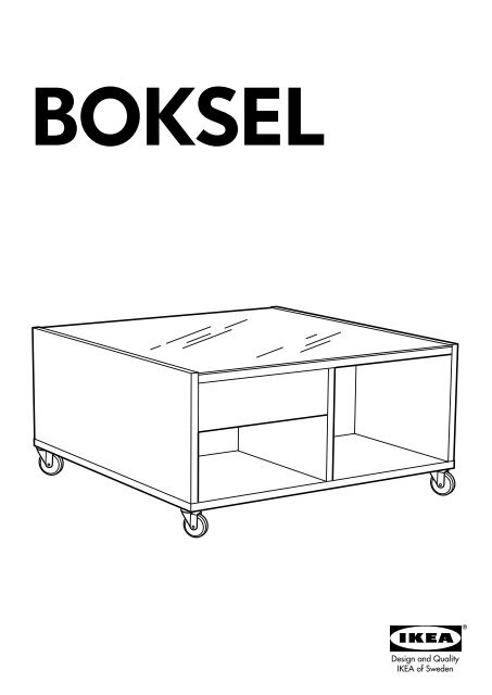 Ikea Boksel Plan sDe Montage 30207155 Table Basse yvYf76bg