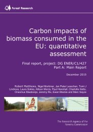 Carbon impacts of biomass consumed in the EU quantitative assessment