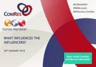 WHAT INFLUENCES THE INFLUENCERS?