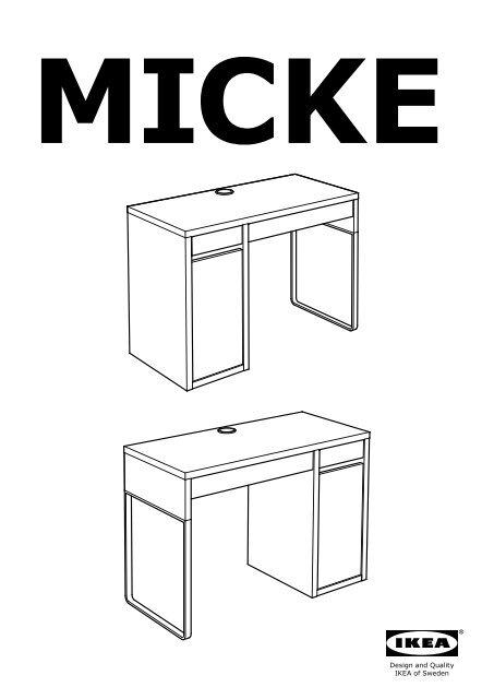 Ikea Micke Bureau.Ikea Micke Bureau 10244743 Plan S De Montage