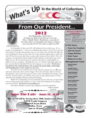 February 2012 Edition - Commercial Collection Corporation