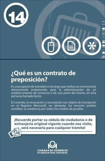 ¿Qué es un contrato de preposición?