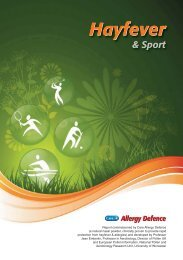 Care Allergy Defence - Hayfever and Sport Report