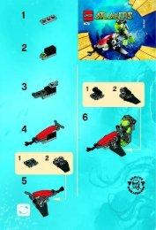 Lego Sea Jet - 8072 (2010) - Typhoon Turbo Sub BI 2001/ 2 - 8072 V 29
