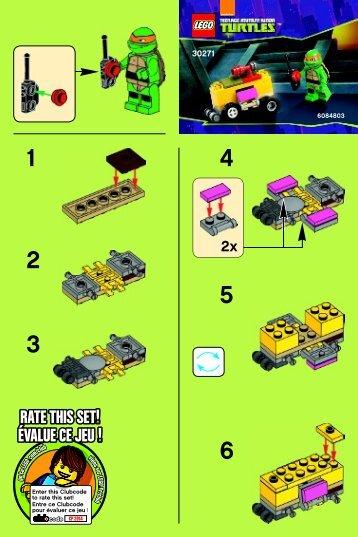 Lego Mikey's Mini-Shellraiser - 30271 (2014) - Worriz' Fire Bike BI 2001/ 2 - 30271 V39