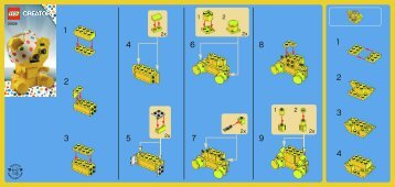 Lego Pudsey - 30029 (2011) - Panda BI 60x50 leaflet - 30029 V29