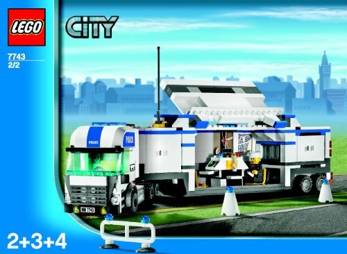 Lego Police Command Center - 7743 (2007) - Police Minifigure Collection BUILD INSTR 3006, 7743 2/2 IN
