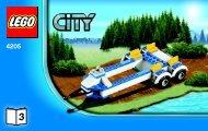 Lego Off-road Command Center - 4205 (2012) - POLICE W. 2 ROAD PLATES BI 3004/32 -4205 V29 3/3