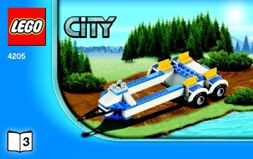 Lego Off-road Command Center - 4205 (2012) - POLICE W. 2 ROAD PLATES BI 3004/32 -4205 V29 3/3