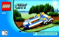 Lego Off-road Command Center - 4205 (2012) - POLICE W. 2 ROAD PLATES BI 3004/32 -4205 V39 3/3