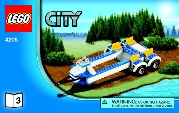 Lego Off-road Command Center - 4205 (2012) - POLICE W. 2 ROAD PLATES BI 3004/32 -4205 V39 3/3