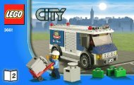 Lego Bank & Money Transfer - 3661 (2011) - POLICE W. 2 ROAD PLATES BI 3004/56 - 3661 V.29/39 2/3