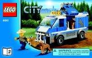 Lego Police Dog Van - 4441 (2011) - Police Dog Van BI 3004 60/ - 4441 V39 2/2