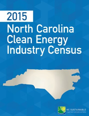2015 North Carolina Clean Energy Industry Census 1