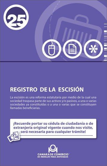 REGISTRO DE LA ESCISIÓN