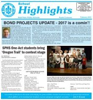 BOND PROJECTS UPDATE - 2017 is a comin'!