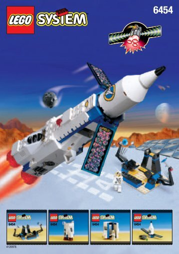 Lego Space Port Saturn 1 - 6454 (1999) - Space Moon Buggy BUILD.INSTR. FOR 6454