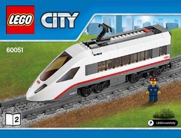 Lego High-speed Passenger Train - 60051 (2014) - Freight Loading Station BI 3019/68+4*, 60051 2/4 V29