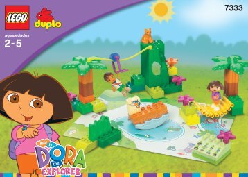 Lego Dora and Diego's Animal Adventure - 7333 (2004) - Dora Club Co-Pack BUILDINGINSTRUCTION 7333 IN/NA