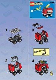 Lego FIRE CAR - 6486 (1997) - Fire Station BUILD. INSTR. TRAILER 6486