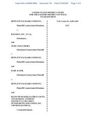 Proposed Order Concerning HPs Motion to Strike and for ... - Cryptome