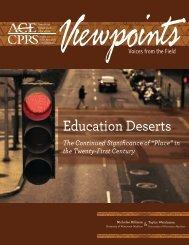 Education Deserts