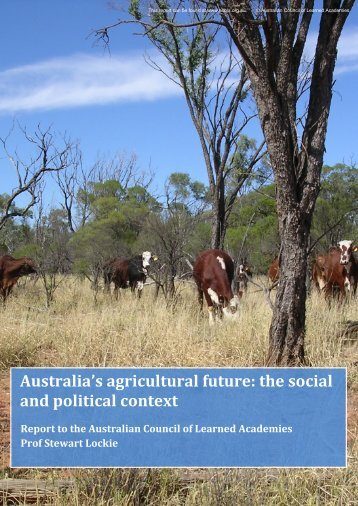 Australia's agricultural future the social and political context