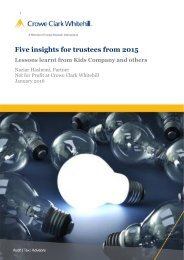 Five insights for trustees from 2015