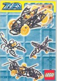Lego BLACK RACER W. MOTOR - 3571 (1998) - GREEN JET PLANE BUILD.INST. FOR 3571