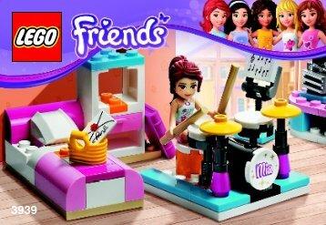 Lego Mia's Bedroom - 3939 (2012) - Andrea's Bunny House BI 3001/32 - 3939 V29