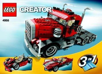 Lego Big Rig - 4955 (2007) - Fast flyers BUILD. INSTR. 3006, 4955 1/2