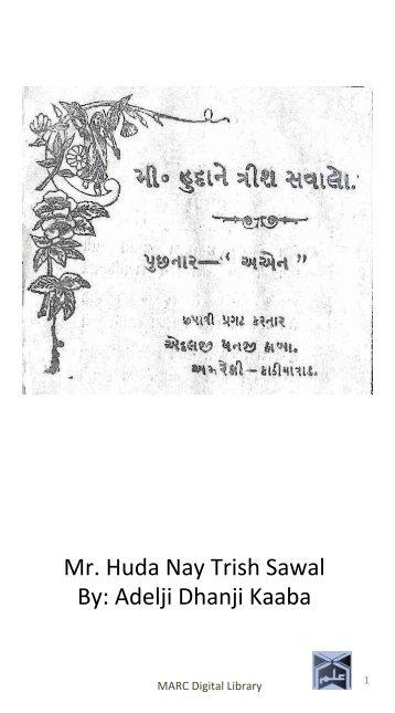 Book 54 Mr Huda Nay Trish Sawal