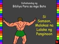 Samson Gods Strong Man Tagalog - Bible for Children