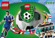 Lego Football Team Coaches - 3404 (2000) - NHL All Teams Set BUILD. INST FOR 3404 IN