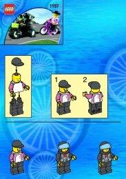Lego DT MOTOR BIKE W/CAMERA - 1197 (2000) - NHL All Teams Set BUILD.INST. 1197 IN