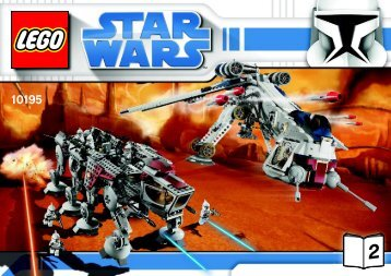 Lego Republic Dropship with AT-OT Walker™ - 10195 (2009) - Ultimate Collector's AT-ST™ BI 3008/72+4 10195 V46/39 2/3