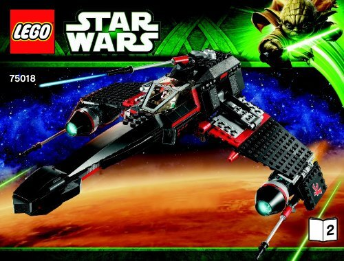 Lego Jek-14's ™ Stealth Starfighter - 75018 (2013) - Homing Spider Droid™ BI 3019/80+4*- 75018 V29 2/2