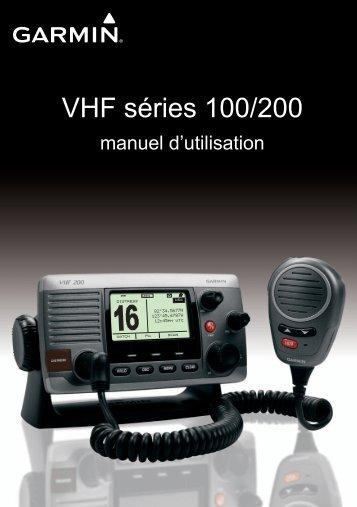 Garmin VHF 100/100i Marine Radio - Manuel d'utilisation