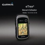 Garmin eTrex® 30x - Manuel d'utilisation
