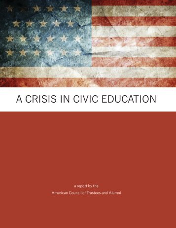 A CRISIS IN CIVIC EDUCATION